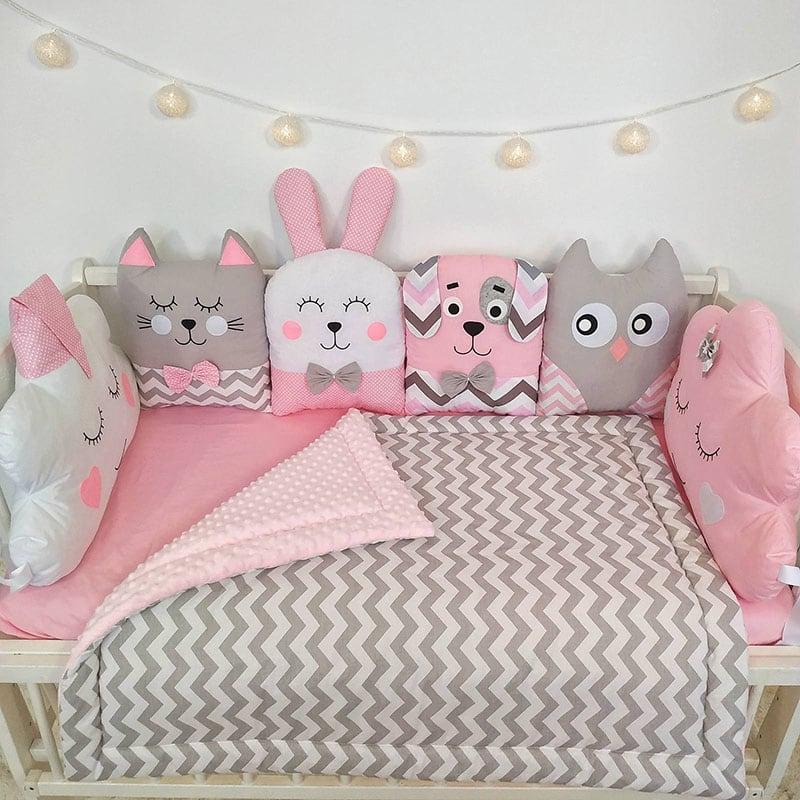 Детский бортик Розовая Колыбельная