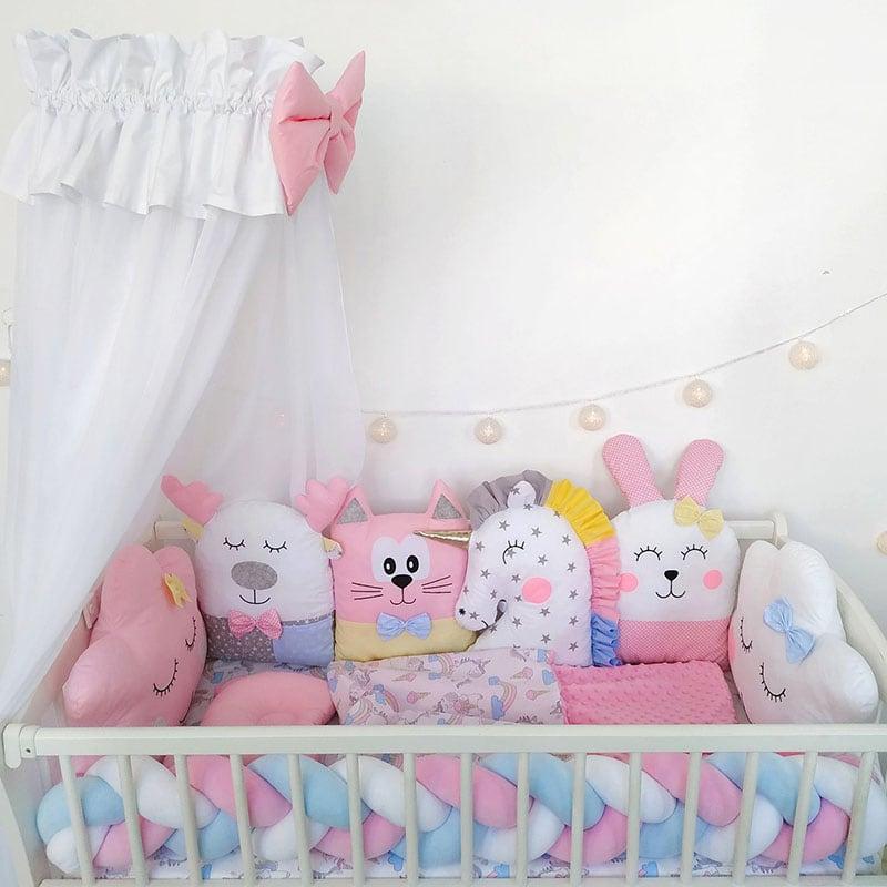Бортик в кроватку Радужный Единорог