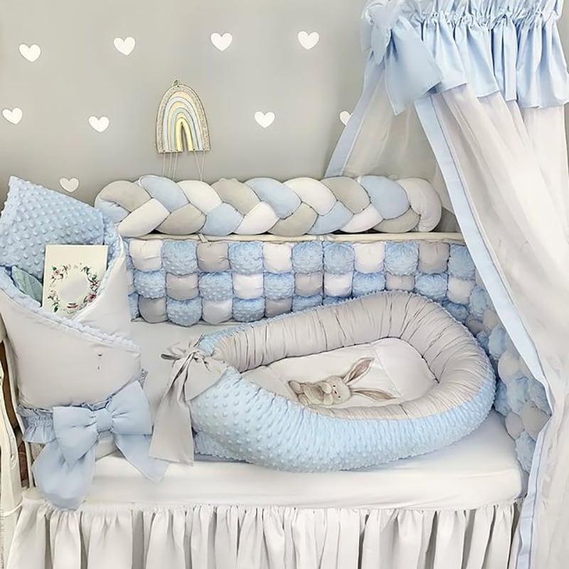 Бортик детский в кроватку Лазурный Бон-Бон
