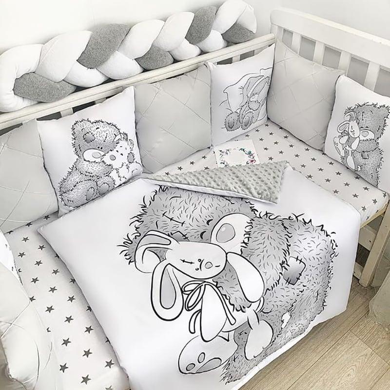 Бортик в ліжечко новонародженому Ведмедик Тедді