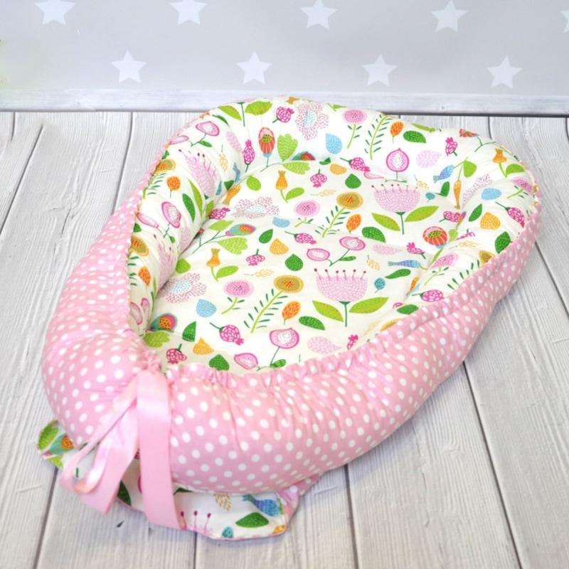 Кокон для новорожденных девочек Цветы Украины