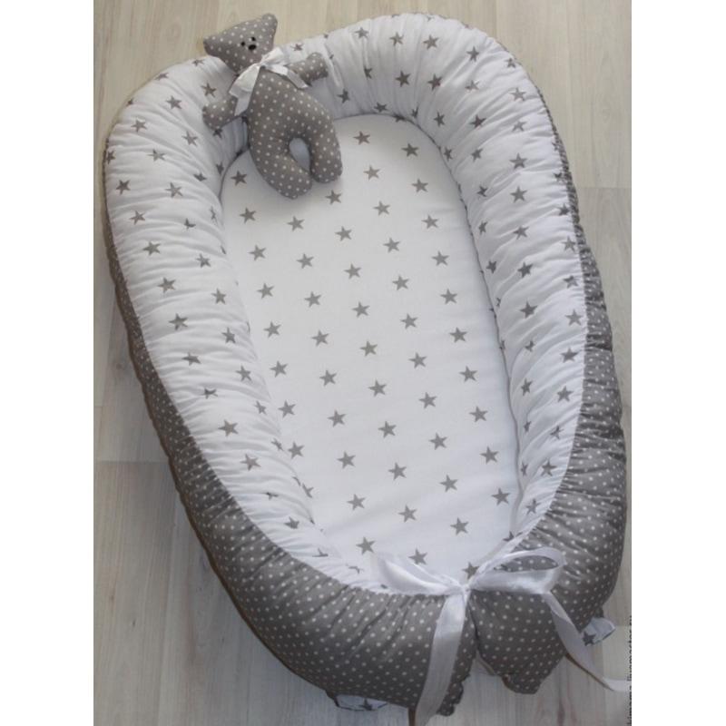 Кокон для новорожденных мальчиков Жемчужная Звездочка
