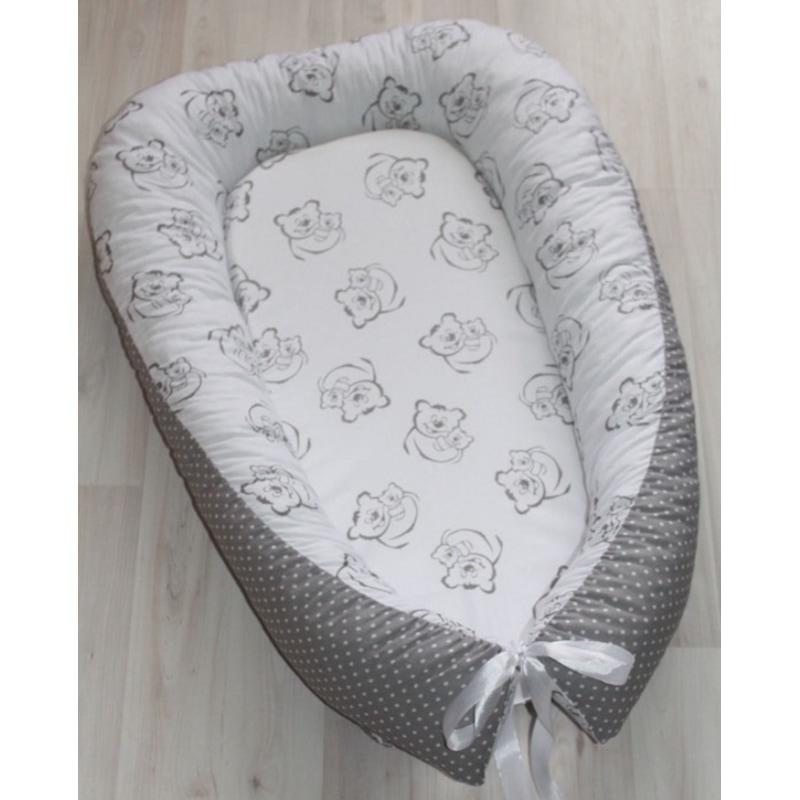 Кокон для новорожденных мальчиков Мамин Мишка