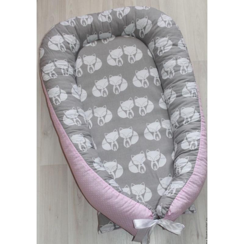 Кокон для новорожденных мальчиков Лисенок