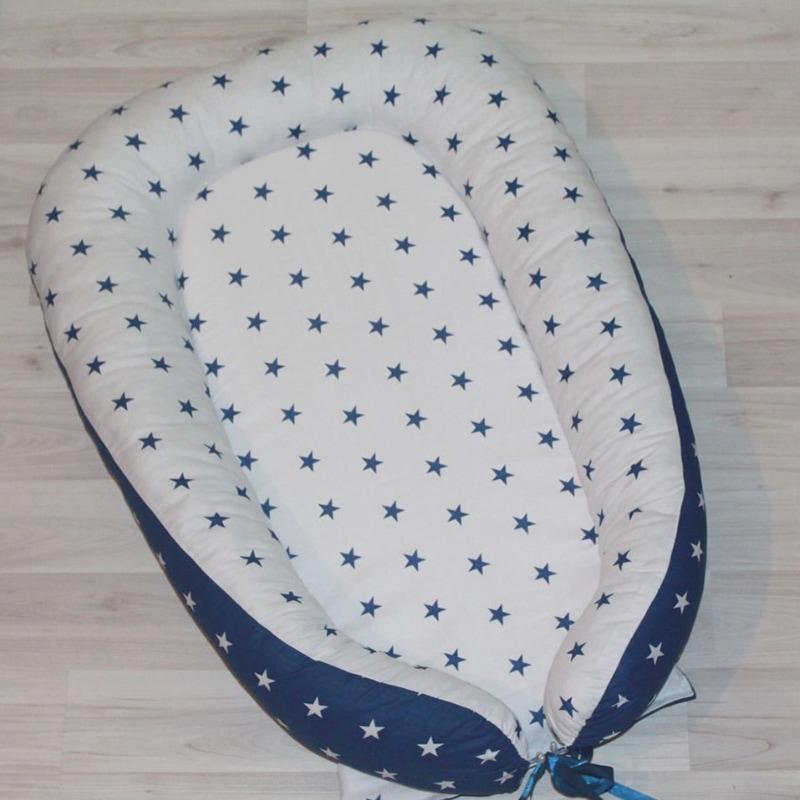 Кокон для новонароджених хлопчиків Синя Зірочка
