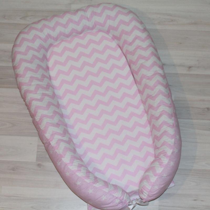Кокон для новорожденных девочек Зигзаг