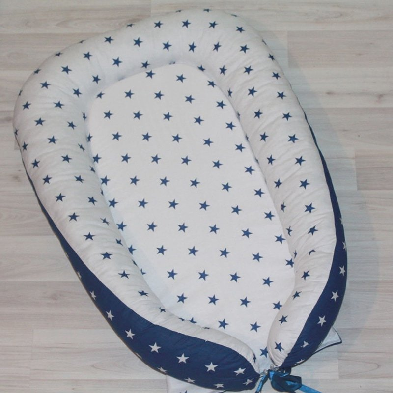 Кокон для новорожденных мальчиков Синяя Звездочка
