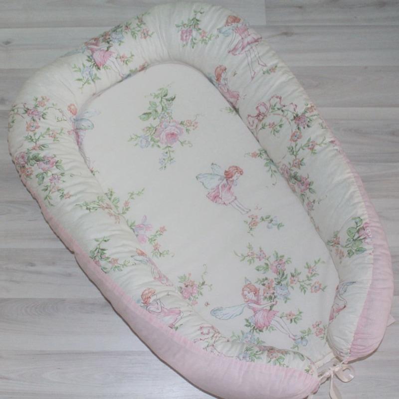 Кокон для новорожденных девочек Розалинда и цветы