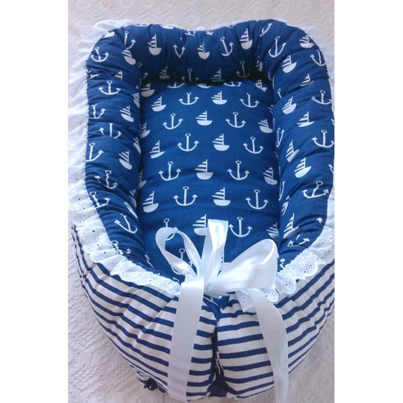 Кокон для новорожденных мальчиков Яхта