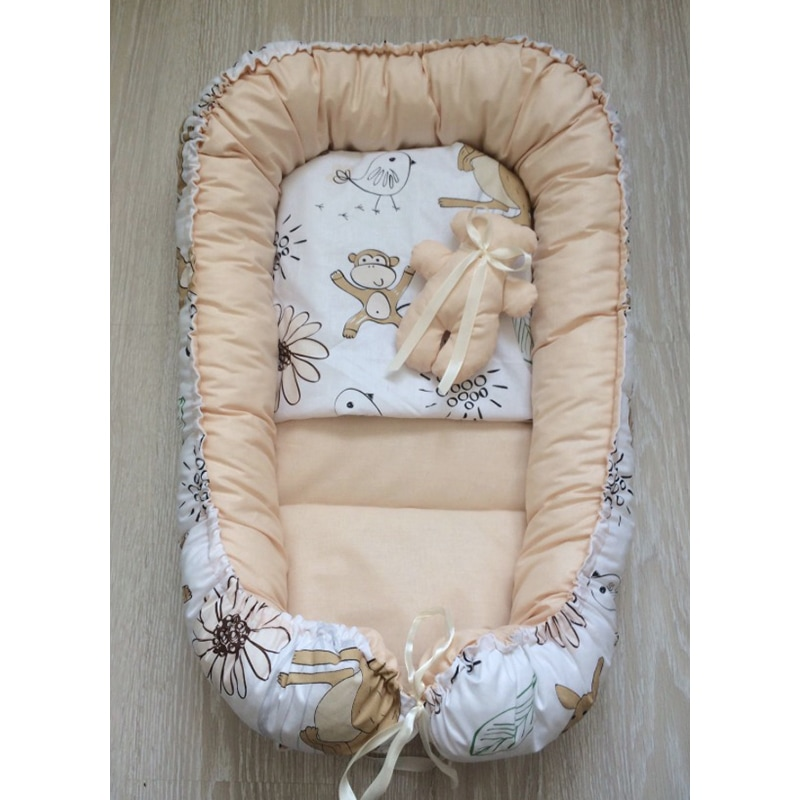 Кокон для новорожденных Веселый Зоопарк