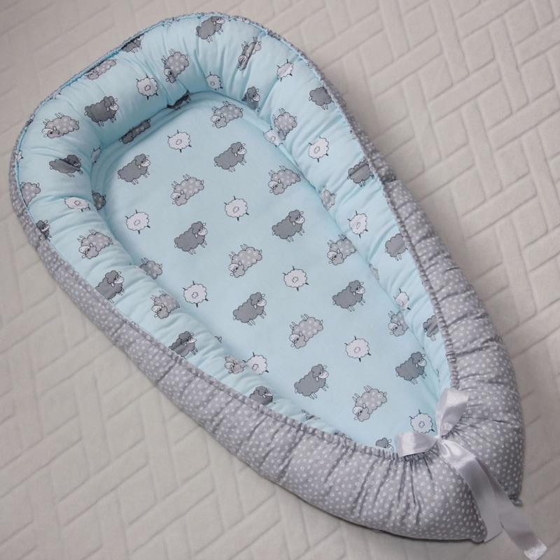 Кокон для новорожденных мальчиков Барашек