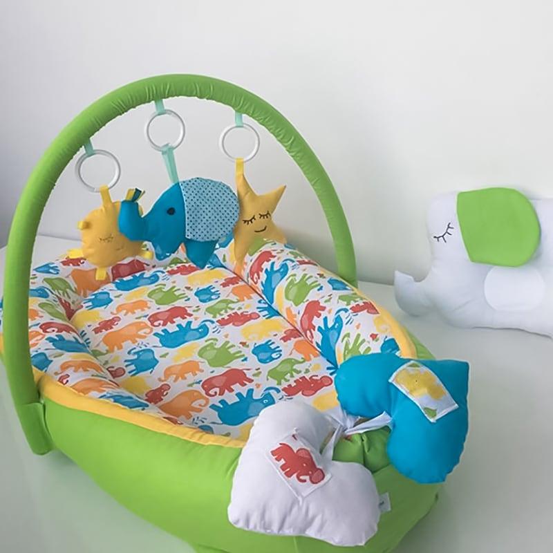Кокон для новорожденных Семь Слоников