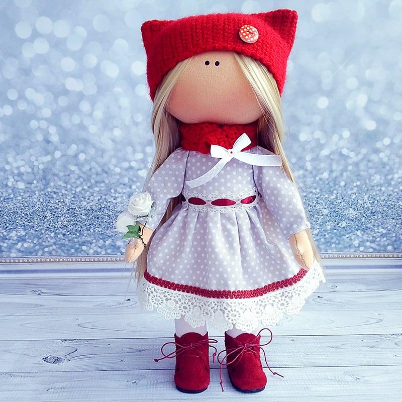 Интерьерная кукла тильда ручной работы Грета