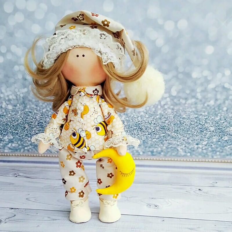 Інтер'єрна лялька тільда для подарунка Кейт