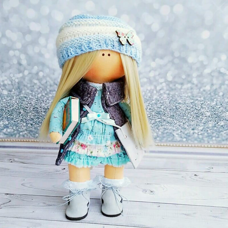 Кукла тильда коллекционная Леона