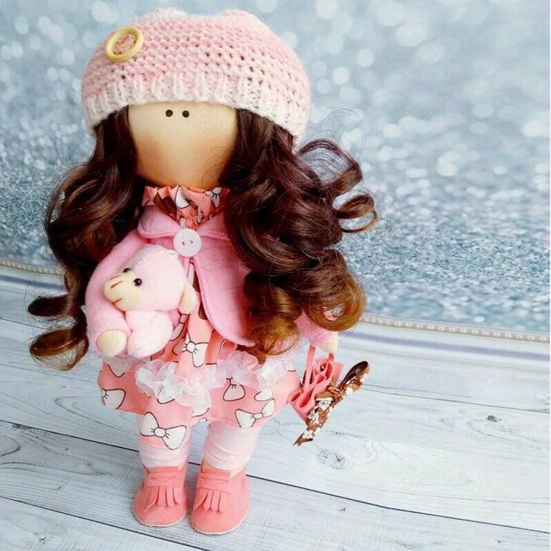 Интерьерная кукла тильда Мета
