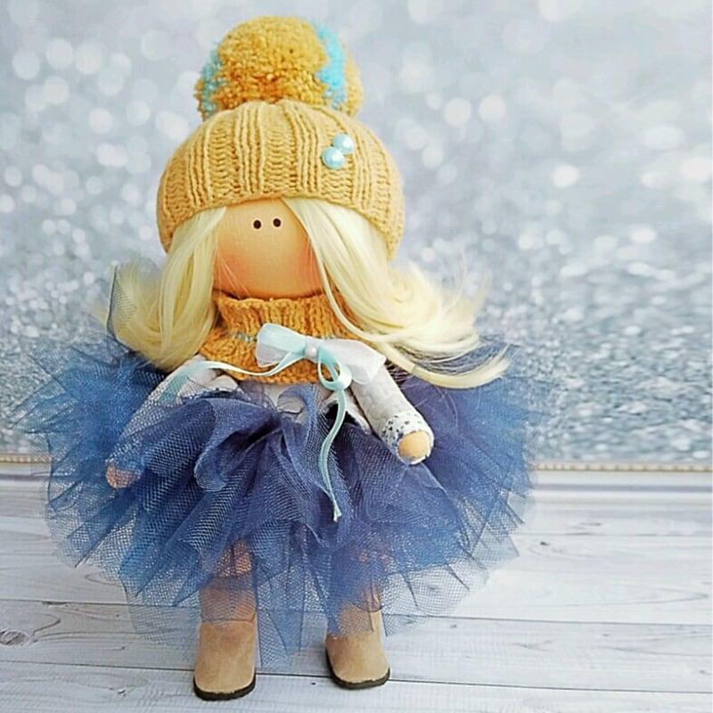 Коллекционная кукла тильда Оделия