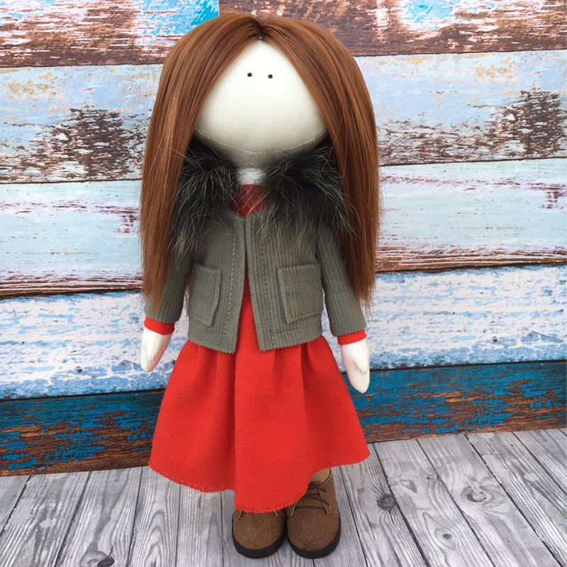 Интерьерная кукла тильда Эйби
