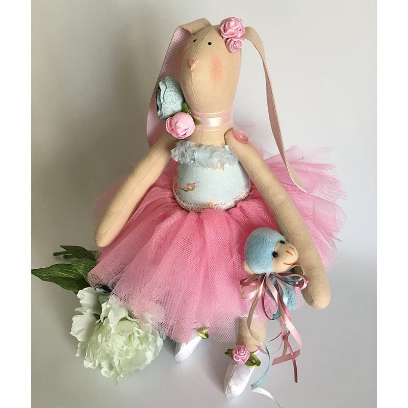 Лялька тільда Зайчик Розі