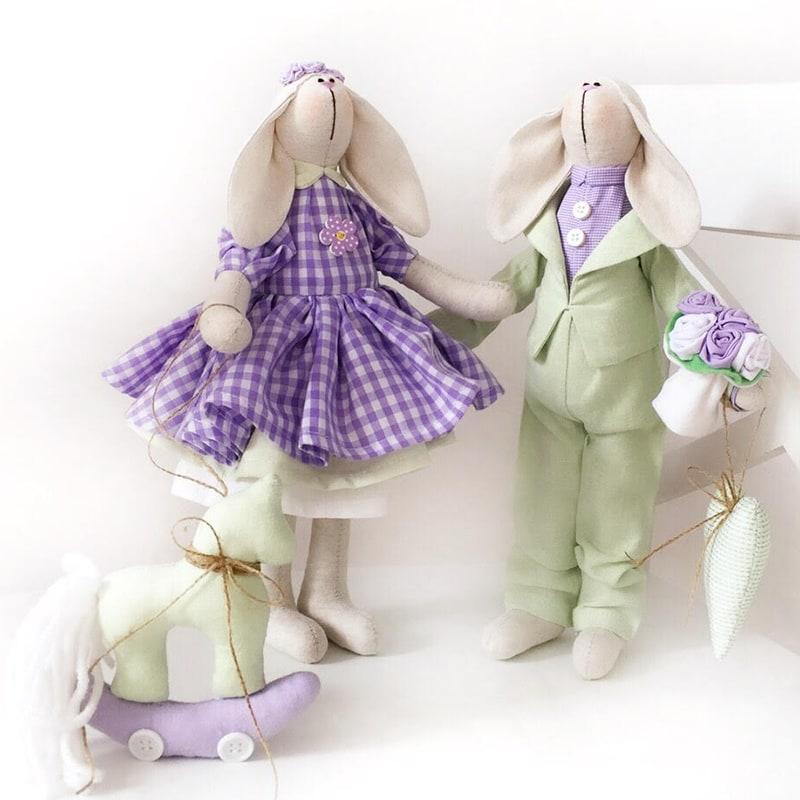 Ляльки ручної роботи Тільда Моллі і Боб