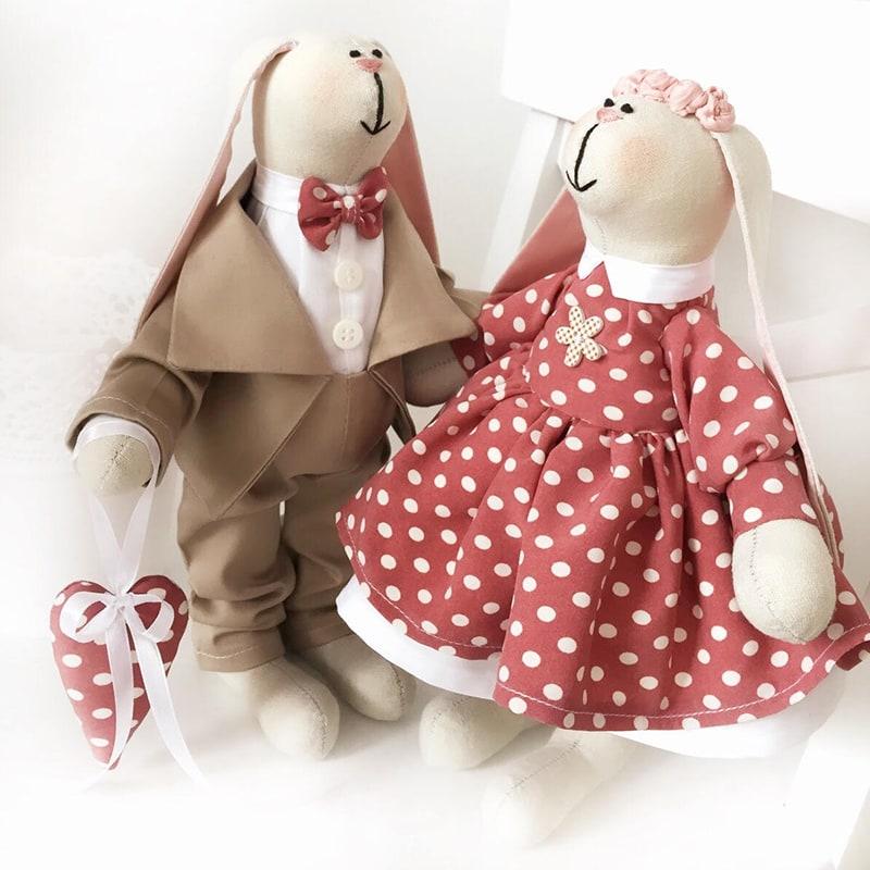 Куклы Тильды ручной работы Долли и Джейкоб