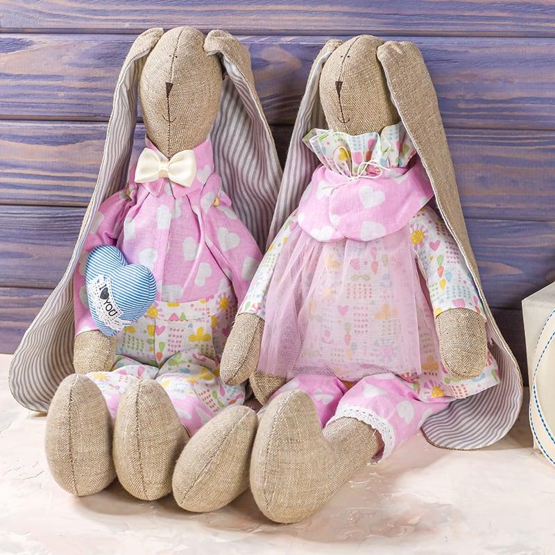 Набор интерьерных кукол Влюбленные Зайки