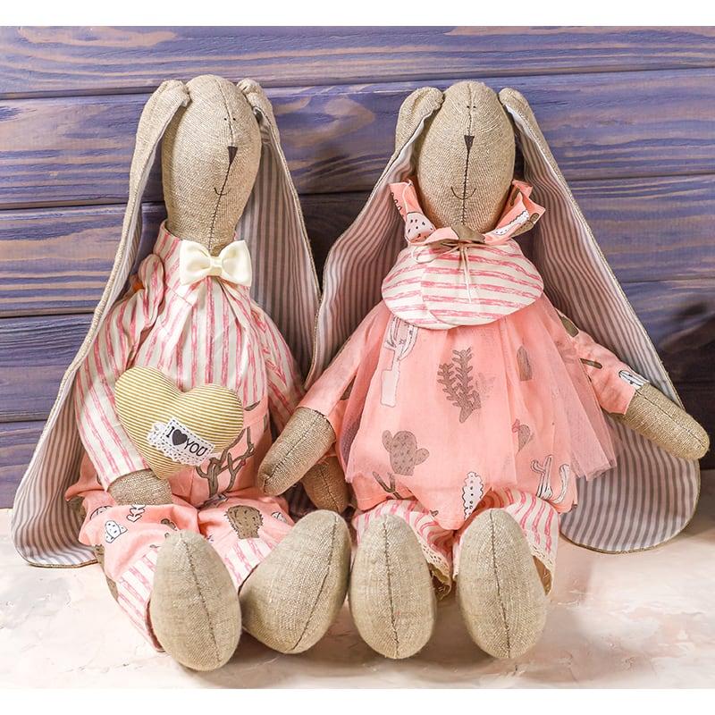 Набір інтер'єрних ляльок Романтичні Зайчики