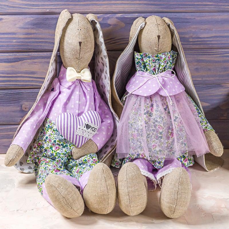 Набір інтер'єрних ляльок Зайчики Мильфлер