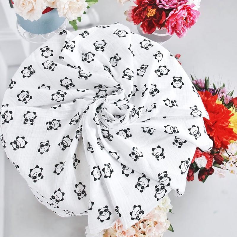 Пеленки для новорожденных муслиновые Panda