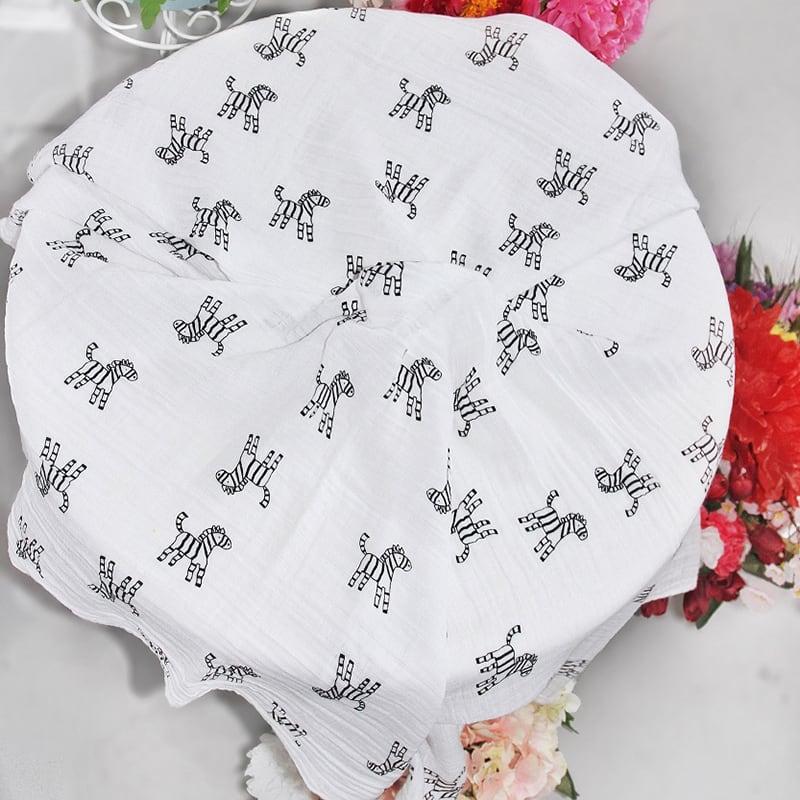 Детские муслиновые пеленки Zebra