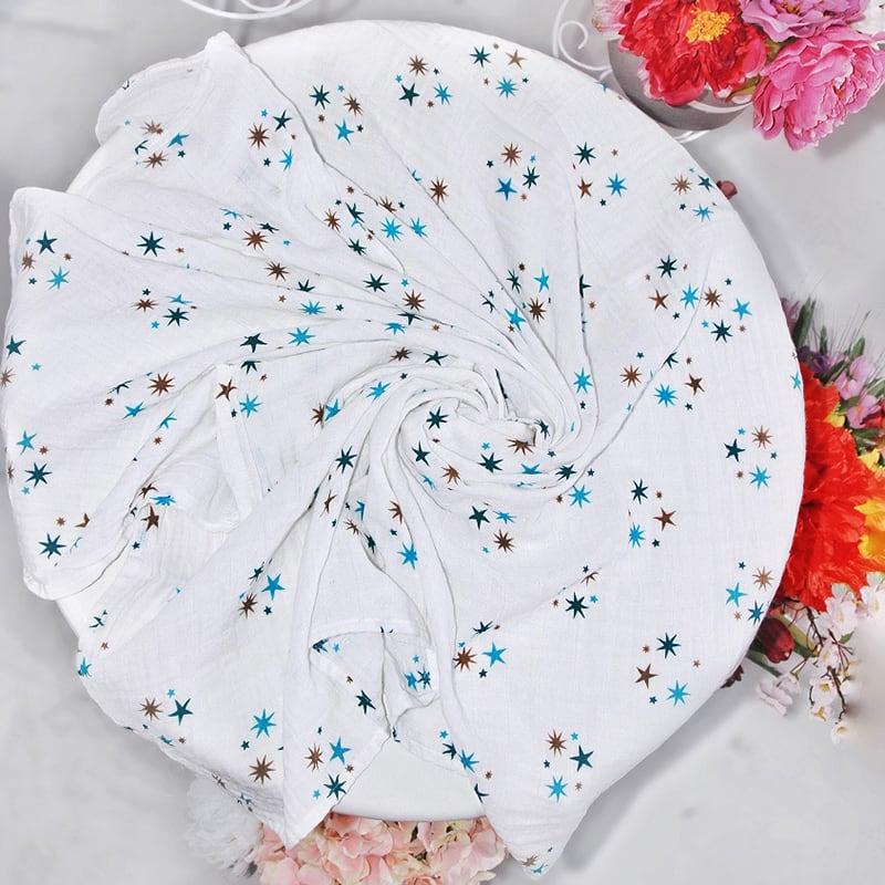Муслиновые пеленки Blue Star