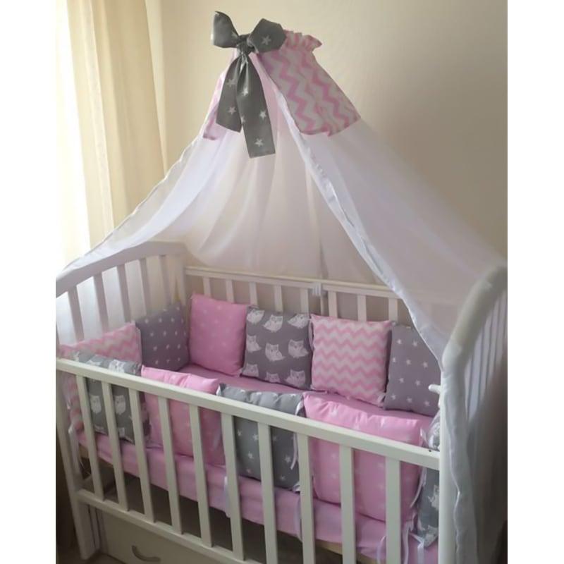 Балдахін на ліжечко новонародженій дівчинці Колискова для Принцеси