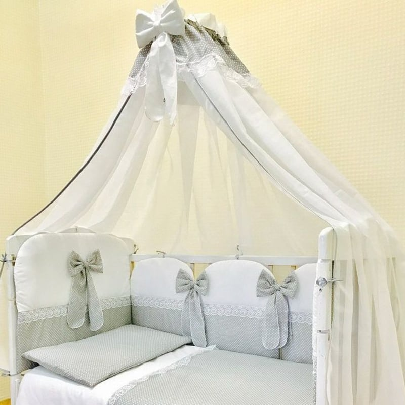 Балдахін на ліжечко новонародженого Мережива