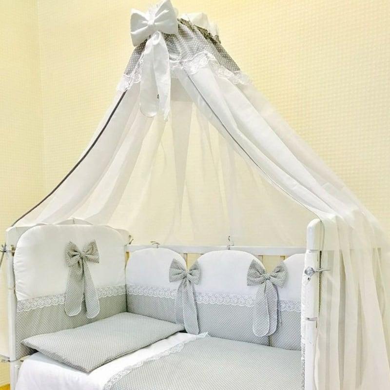Балдахин на кроватку новорожденному Кружева