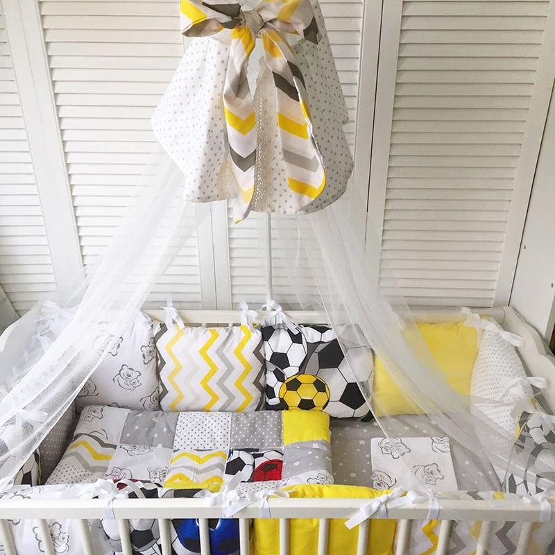 Балдахин на кроватку новорожденному мальчику Чемпион