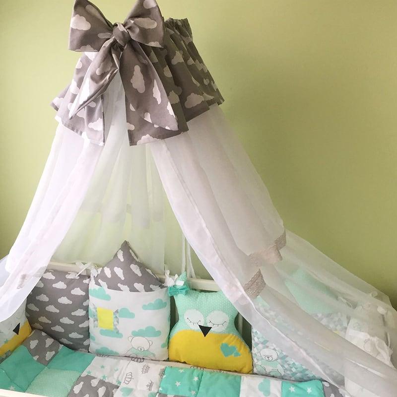 Балдахин на кроватку новорожденному Лесная Сказка