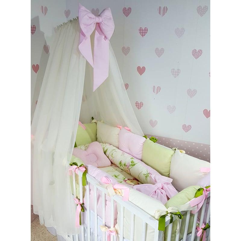 Балдахин на кроватку новорожденной девочке Розовая Фея
