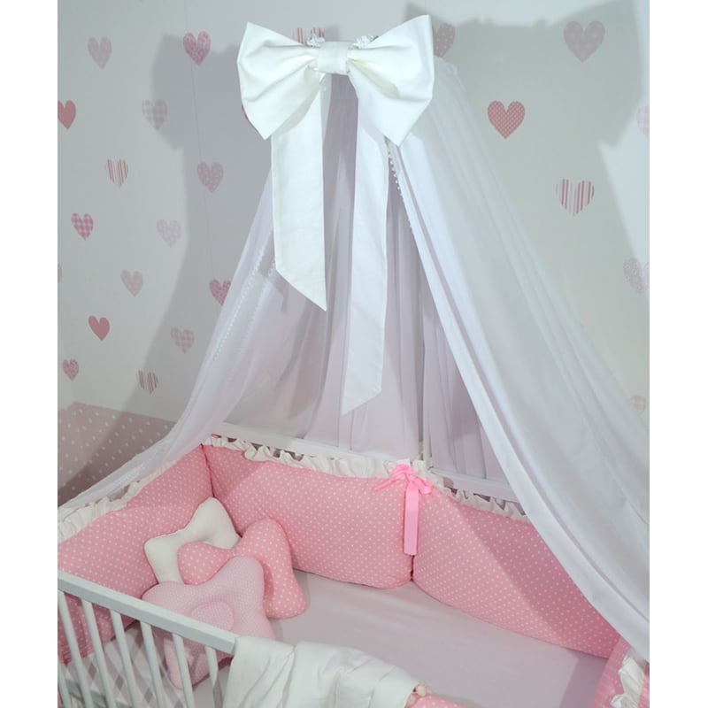 Балдахин на кроватку новорожденной девочке Нежность