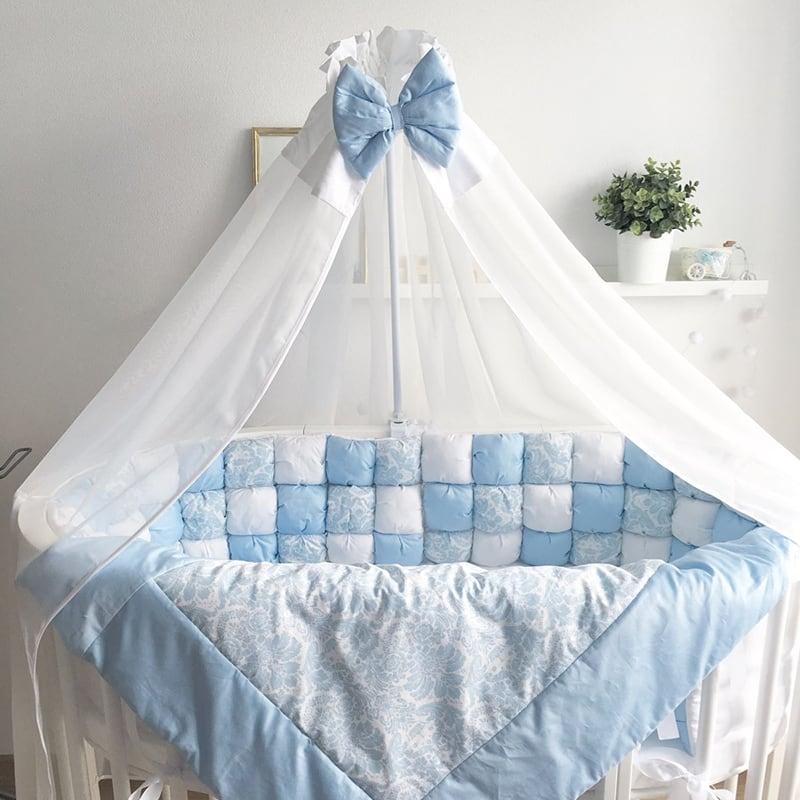 Балдахин на кроватку новорожденному мальчику Ниагара