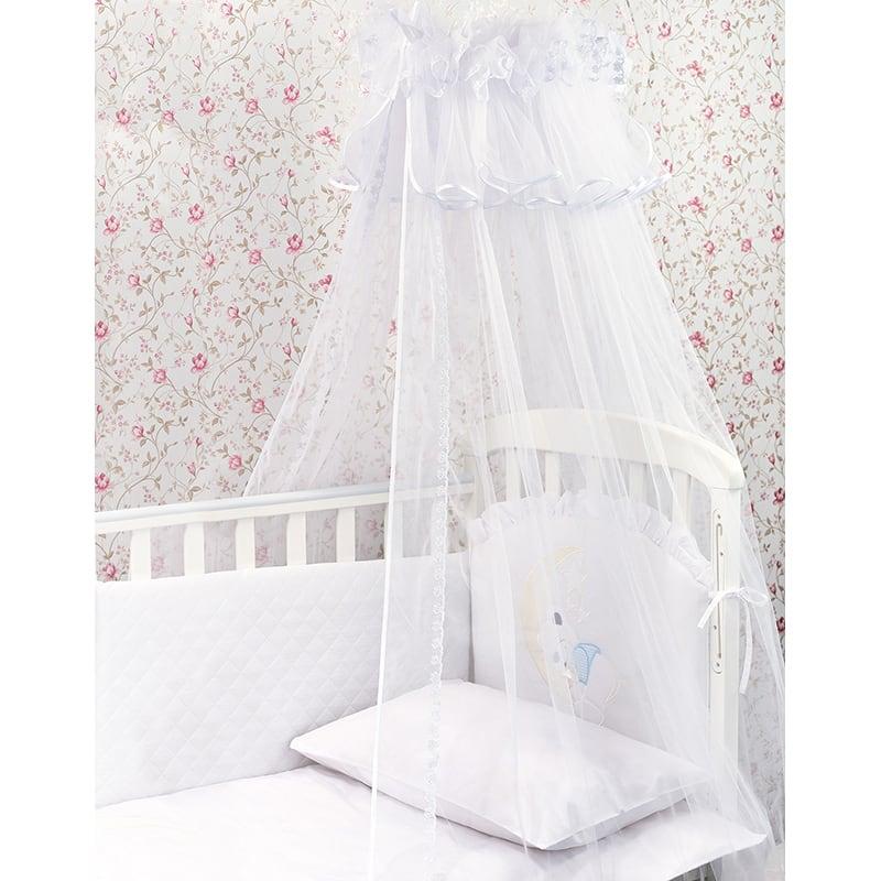 Балдахін на ліжечко новонародженого Біла Троянда