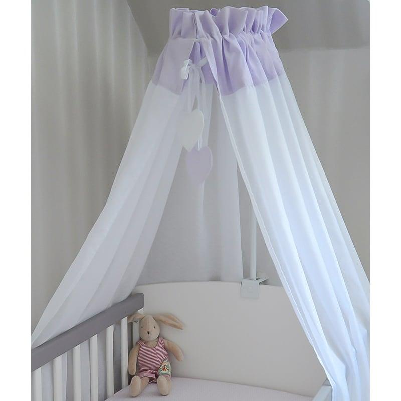 Балдахин на кроватку новорожденному Глициния