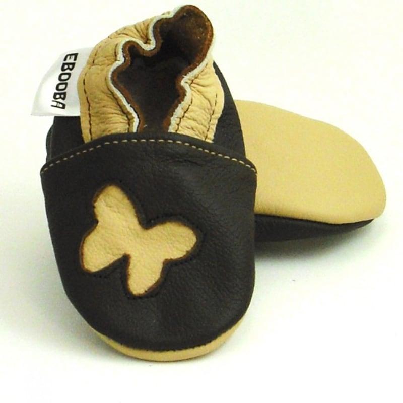 Чешки детские Бежевые Бабочки