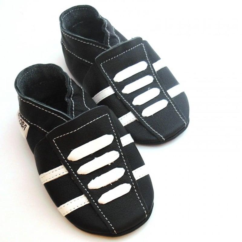 Чешки дитячі Чорно-Білі Кросівки