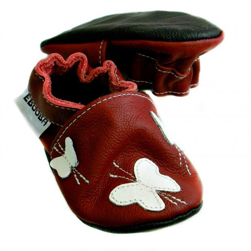 Чешки дитячі Бордові з Метеликами