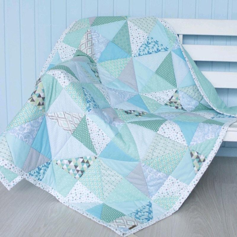 Одеяло для новорожденных Пэчворк Мята