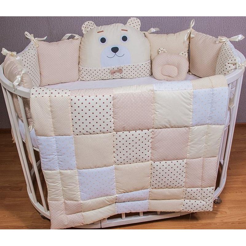 Одеяло для новорожденных Пэчворк Топленое Молоко