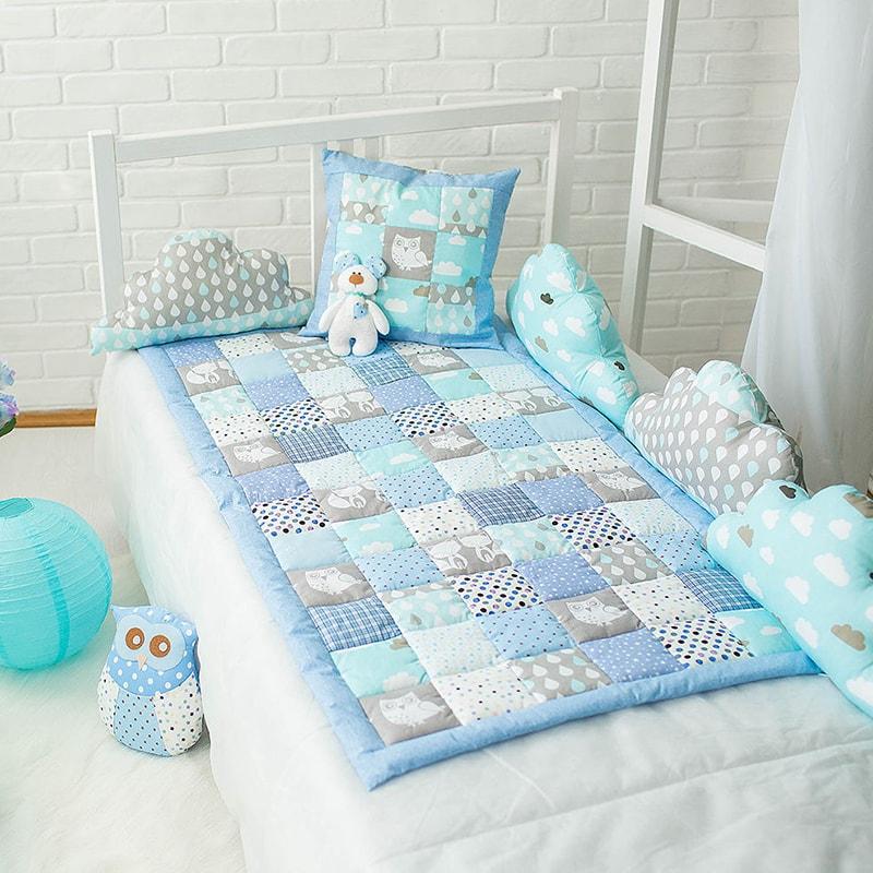 Одеяло handmade в кроватку мальчику Тирен