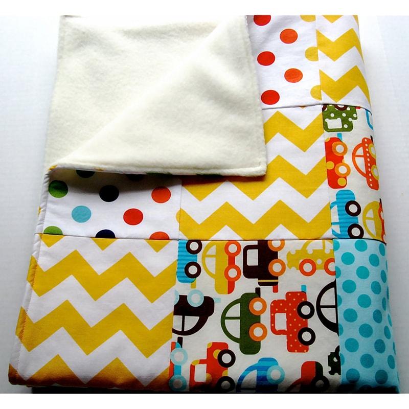 Ковдра для немовлят у ліжечко Печворк Авто