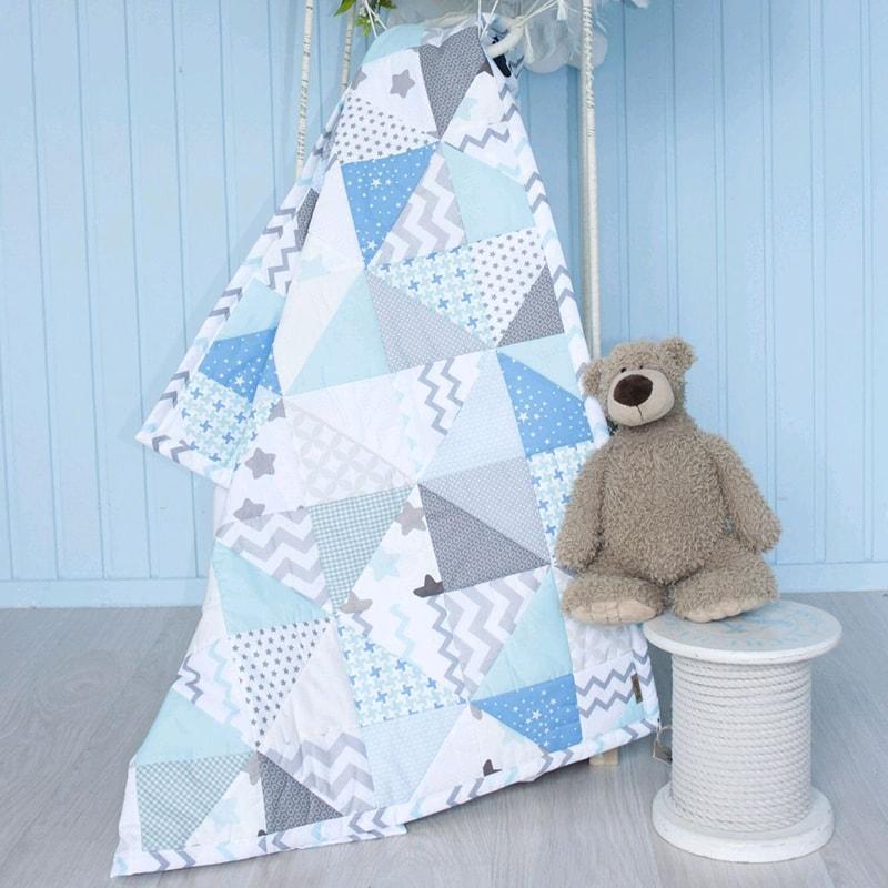 Одеяло для новорожденного мальчика Пэчворк Облако