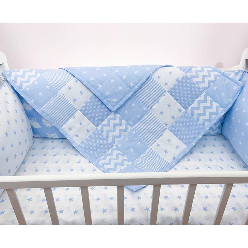 Ковдра для новонародженого хлопчика Печворк Небесний